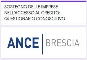 Sostegno delle imprese nell'accesso l credito: questionario conoscitivo